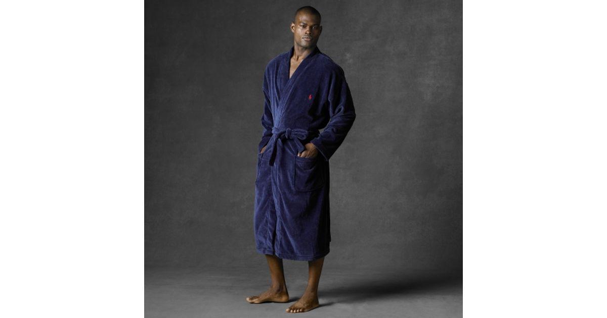 Lyst - Polo Ralph Lauren Terry Kimono Robe in Blue for Men 9bebec98b28