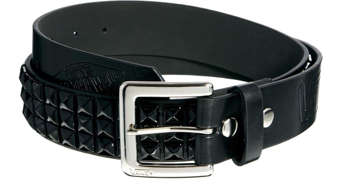 vans black leather belt
