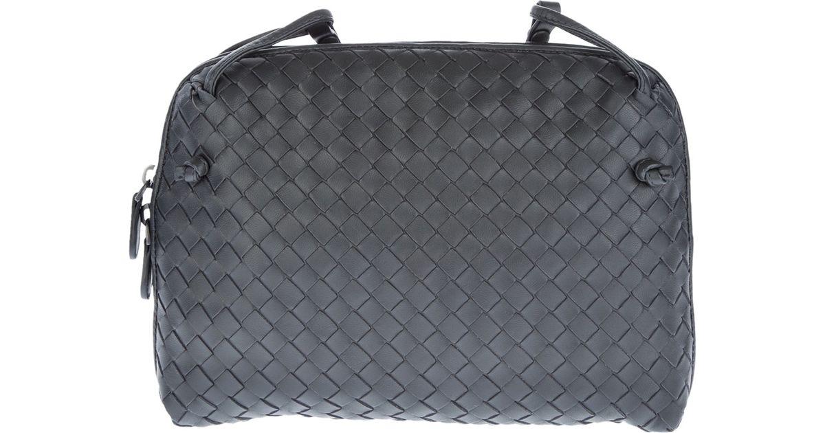 9206f29d79 Bottega Veneta Intrecciato Cross Body Bag in Gray - Lyst