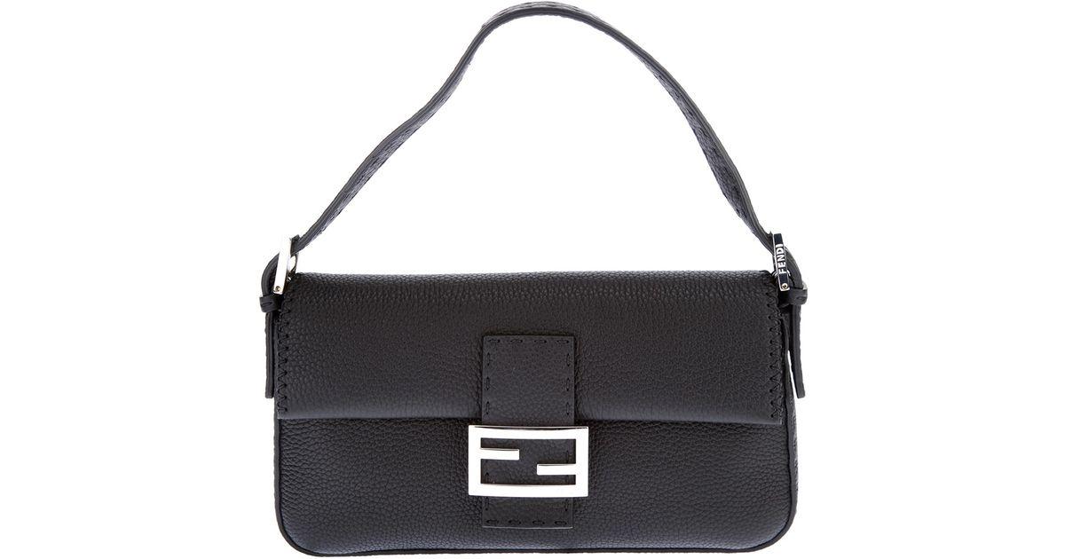 09039a812f77 Fendi Selleria Baguette Bag in Black - Lyst