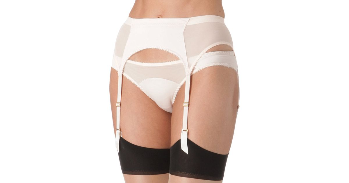 L Agent By Agent Provocateur Penelope Suspender Belt in White - Lyst bc8c3b492