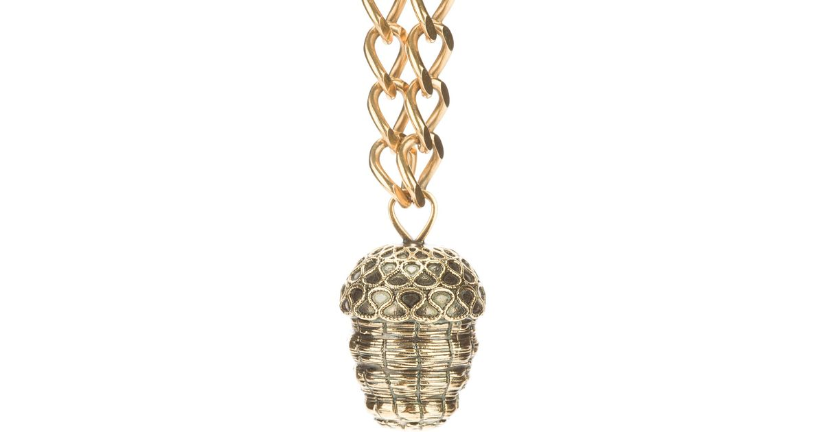acorn silver original by nest gold product personlaised or rose necklace stunning pendant