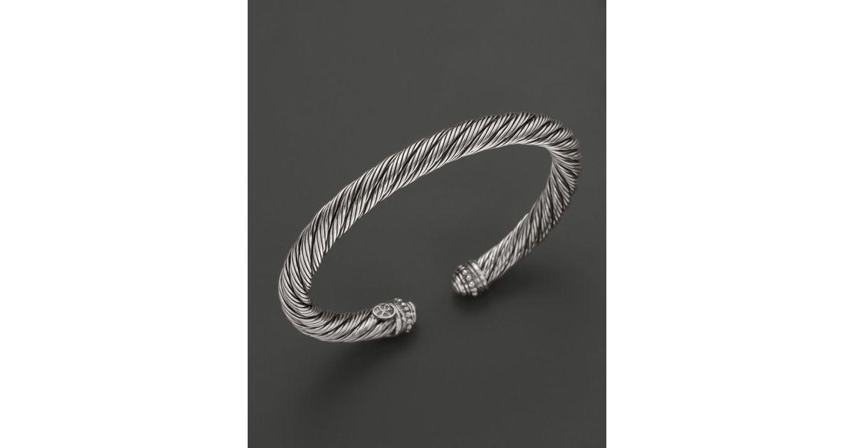 Lyst Scott Kay Mens Sterling Silver Twisted Cuff Bracelet In Metallic For Men