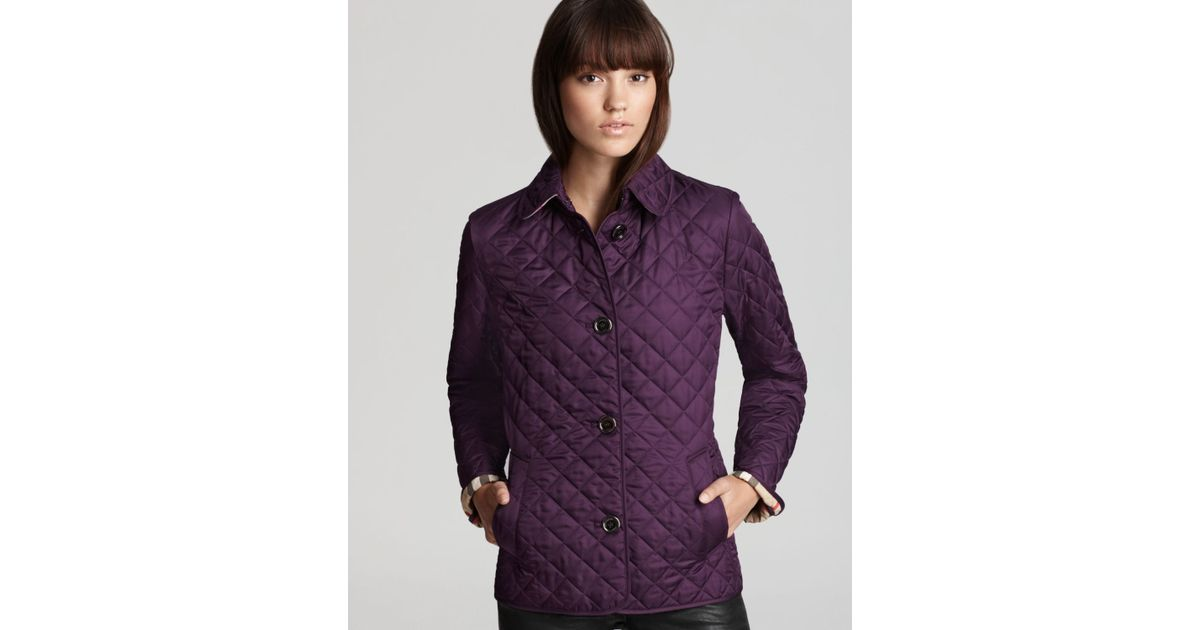 Burberry brit Copford Quilted Jacket in Purple | Lyst : burberry purple quilted jacket - Adamdwight.com