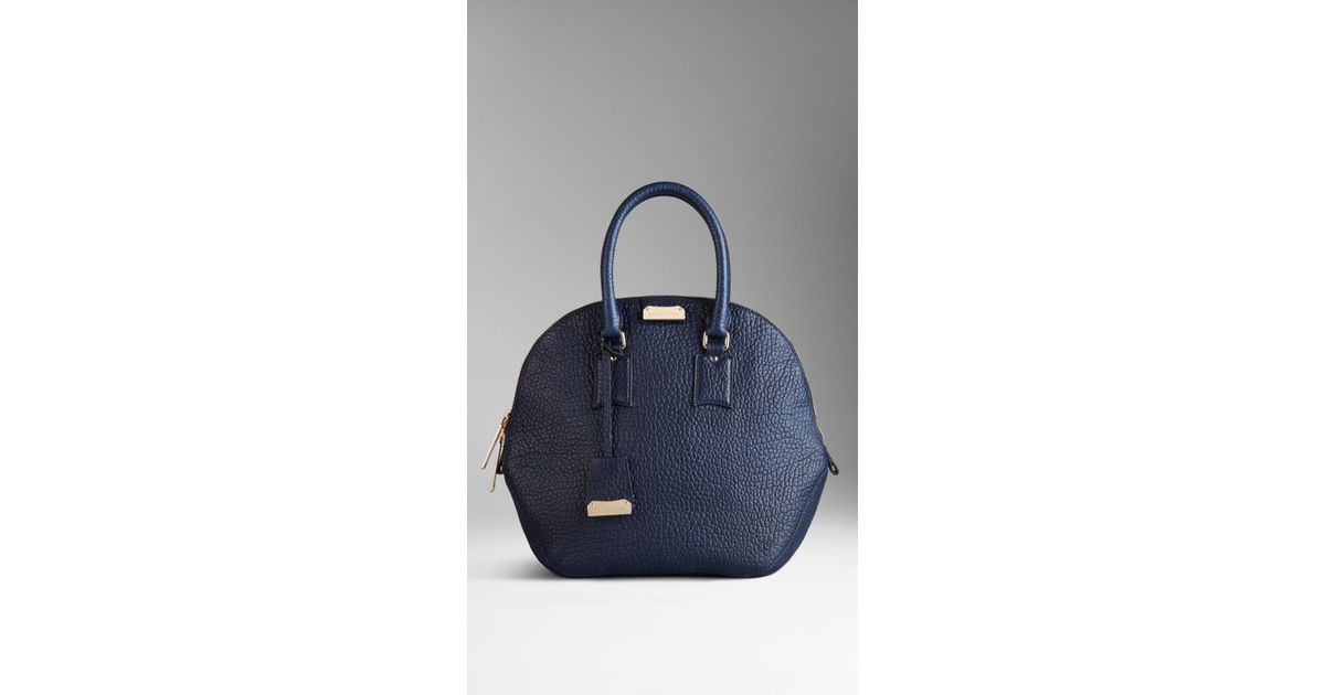 77b5766c7dec Lyst - Burberry The Medium Orchard in Heritage Grain Leather in Blue