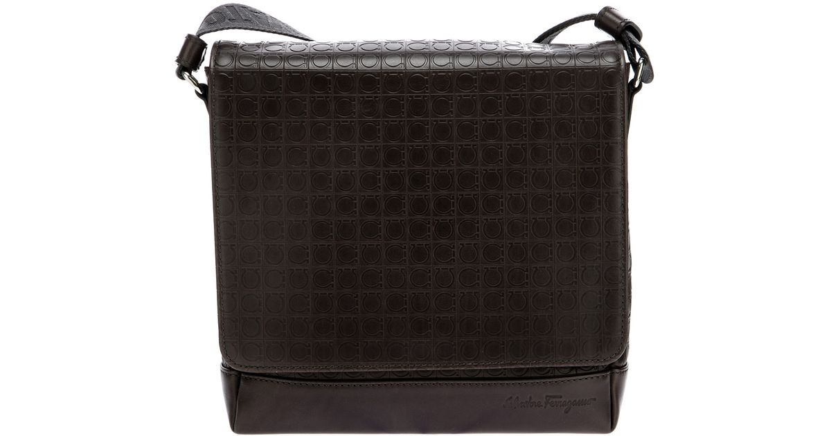 23111d114e Ferragamo Gamma Messenger Bag in Brown for Men - Lyst