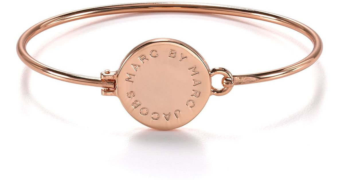 Lyst - Marc By Marc Jacobs Classic Big Logo Hinge Bracelet in Pink