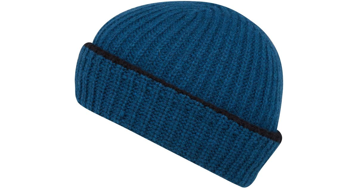 32f415a1d0edd Paul Smith Teal Lambs Wool Beanie Hat in Blue for Men - Lyst