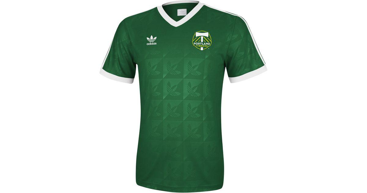 more photos 3c50a 84f27 Adidas - Green Portland Timbers Originals Vneck Soccer Jersey Tshirt for  Men - Lyst