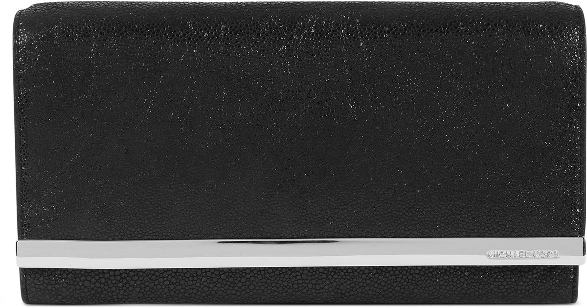 6b2733bfce8b ... uk lyst michael kors tilda clutch in black 723a2 0f8a2 ...