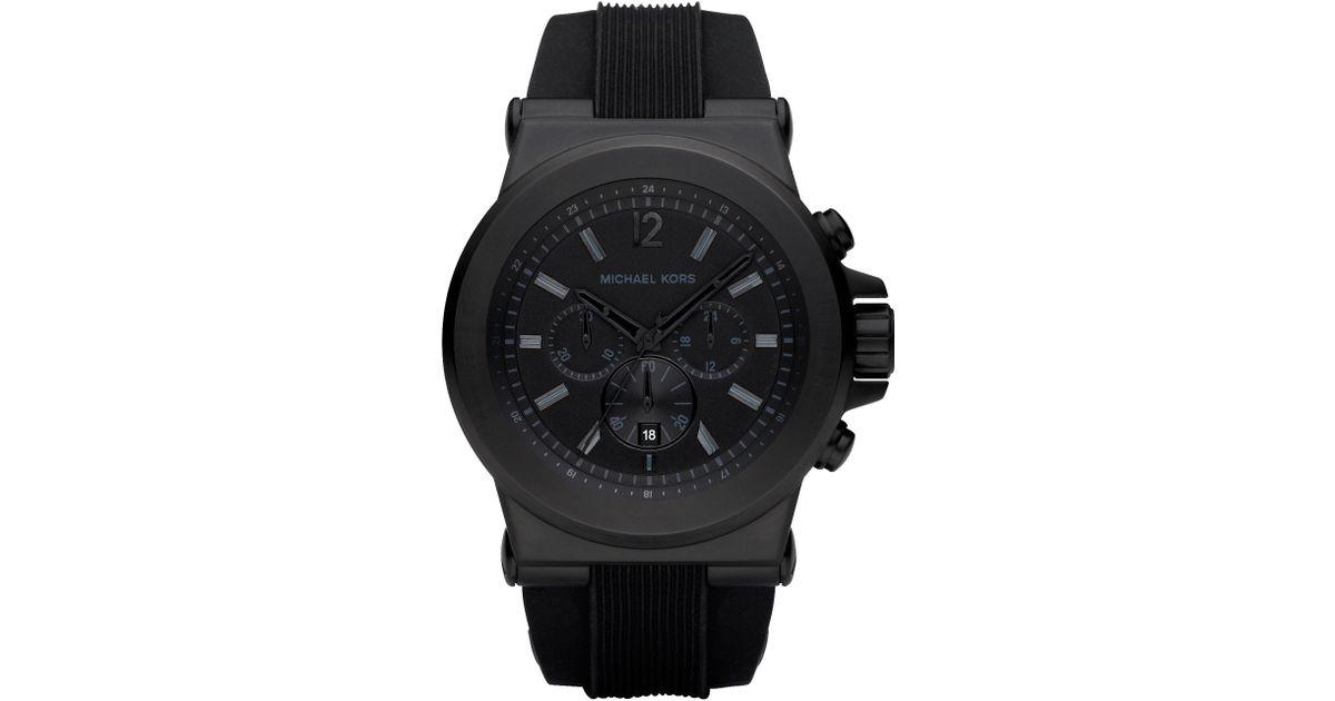 5f827f667e36 Lyst - Michael Kors Men S Dylan Black Silicone Strap Watch 45Mm Mk8152 in  Black for Men