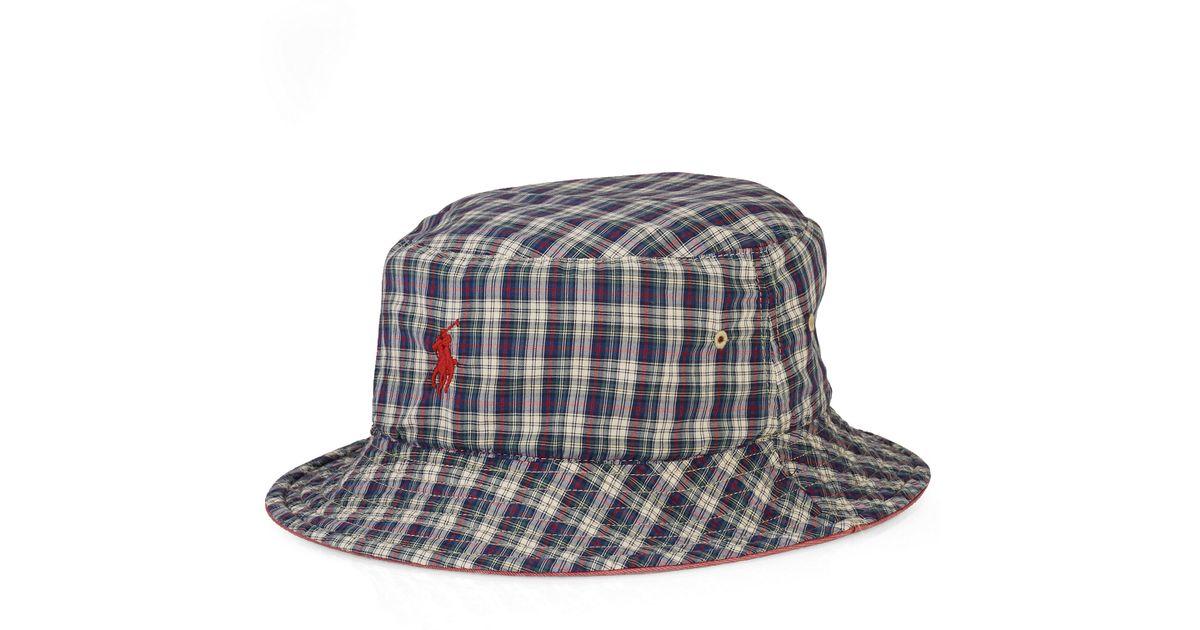 a08ae89f285 Lyst - Ralph Lauren Reversible Beach Side Bucket Hat for Men