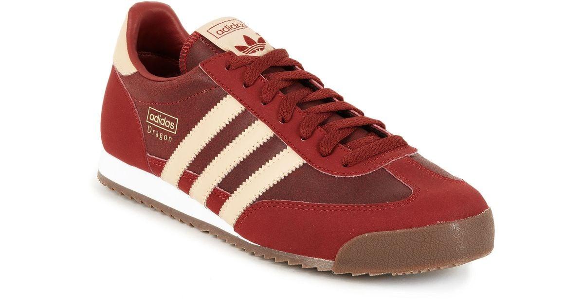 Adidas Red Adidas Originals Dragon Sneakers for men