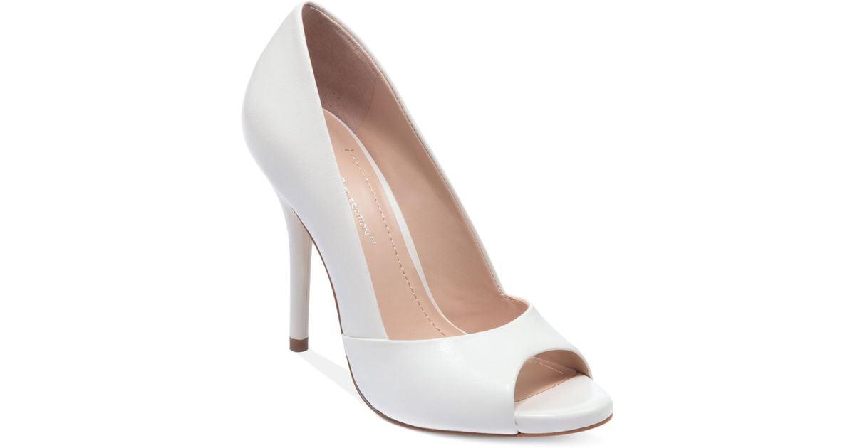 White Peep Toe Heels