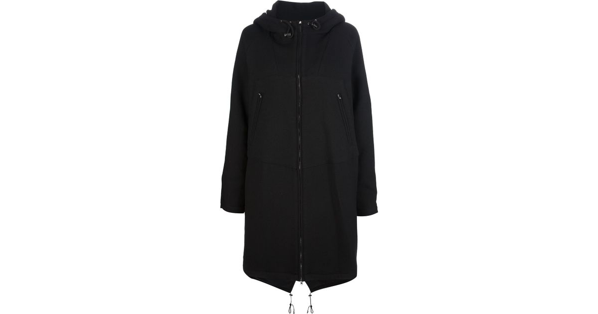 Marni Fishtail Parka in Black | Lyst