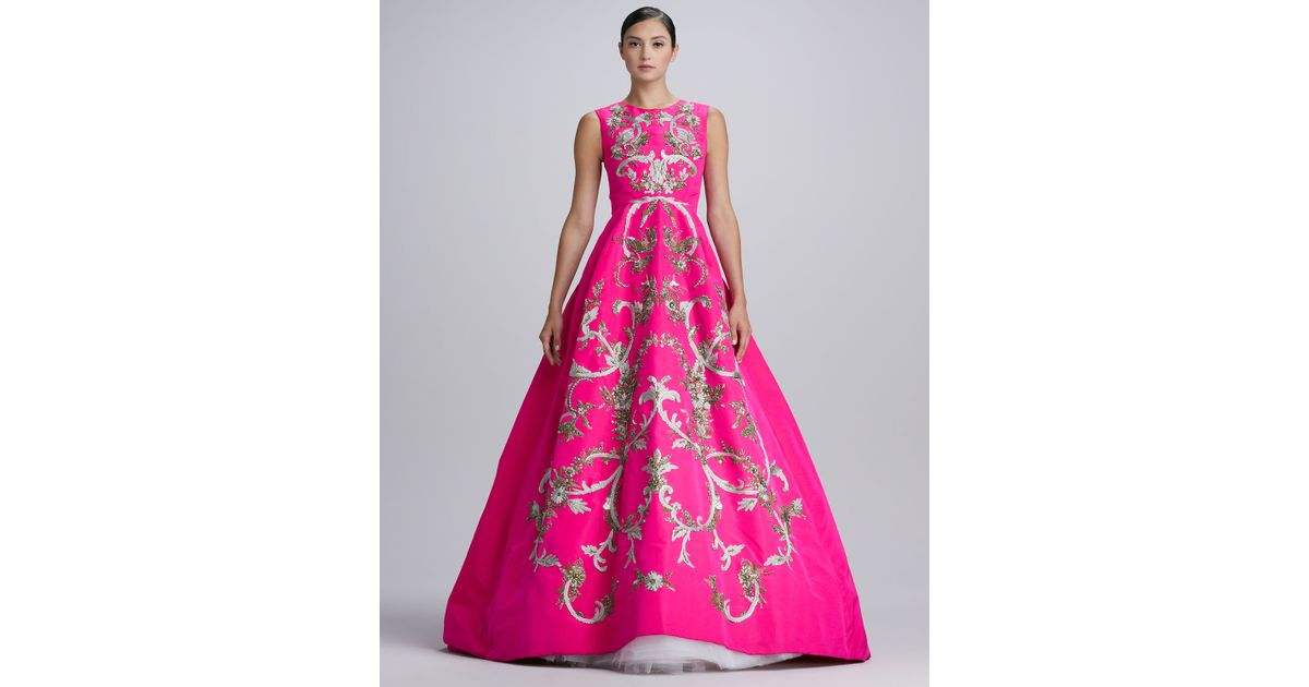 Pink Silk Gown – Fashion dresses
