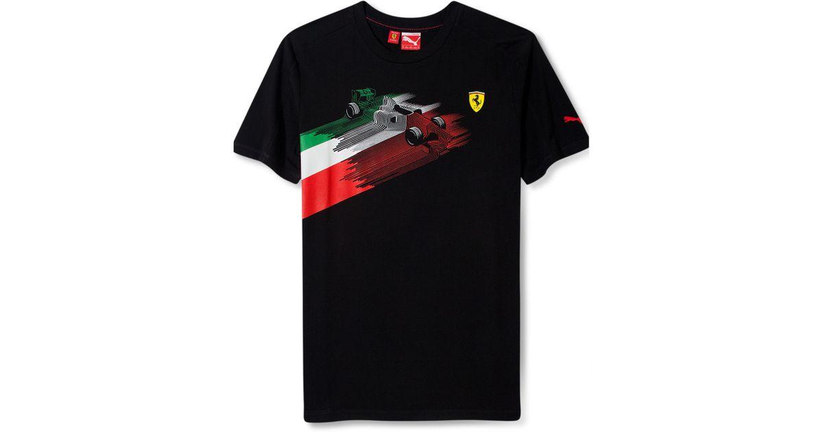 PUMA Scuderia Ferrari Graphic Tshirt In Black For Men
