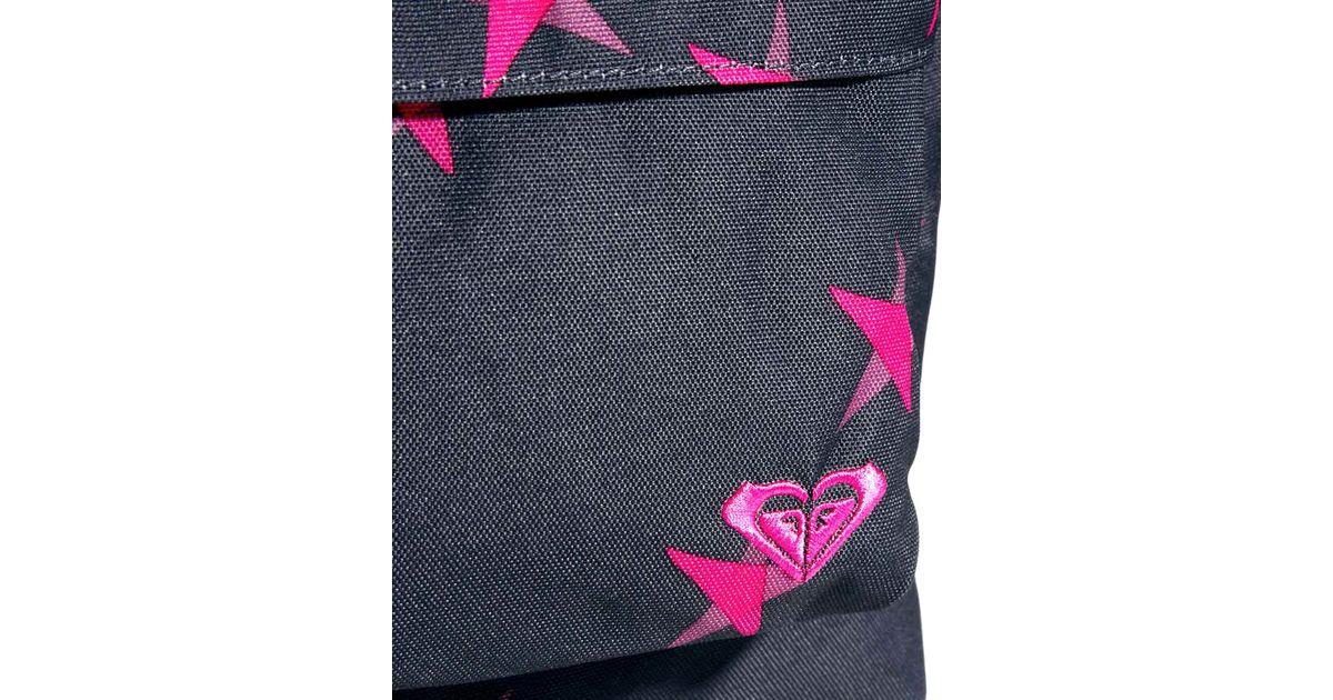 Lyst - Roxy Sugar Baby Star Print Backpack in Black 428ec37febb