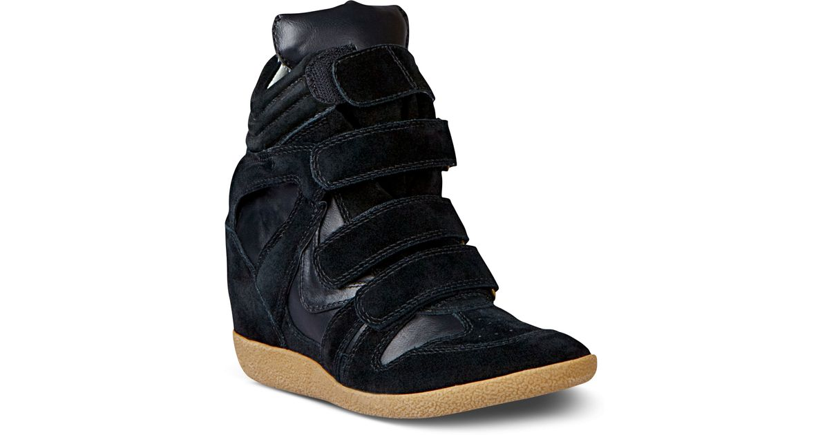 Lyst - Steve Madden Hilight Wedge Sneakers in Black