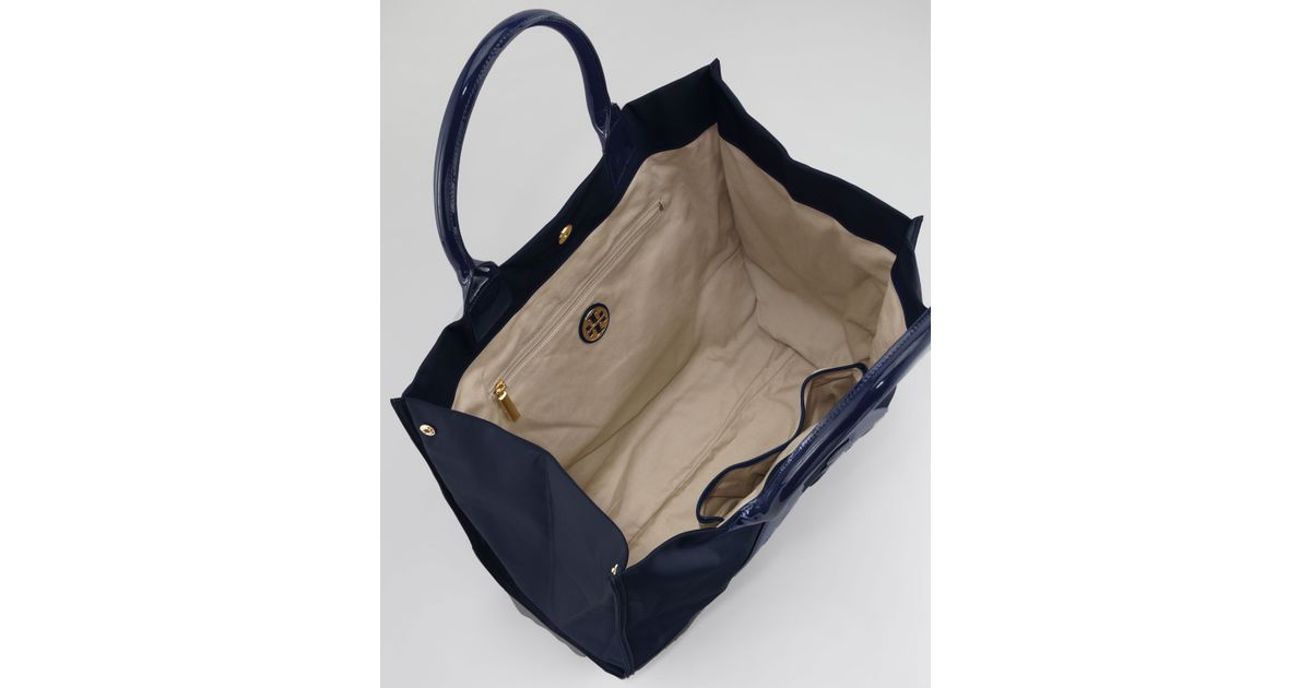 6c31ca633 Tory Burch Ella Nylon Tote Bag in Blue - Lyst
