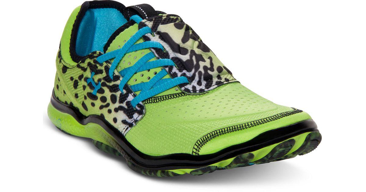 buty skate najtańszy dostępność w Wielkiej Brytanii Under Armour Green Micro G Toxic Six Sneakers for men