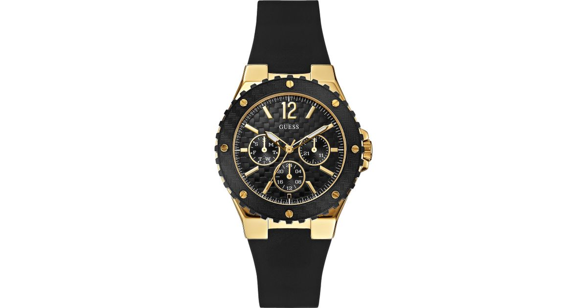 Guess Watch Womens Black Silicone Strap 40mm
