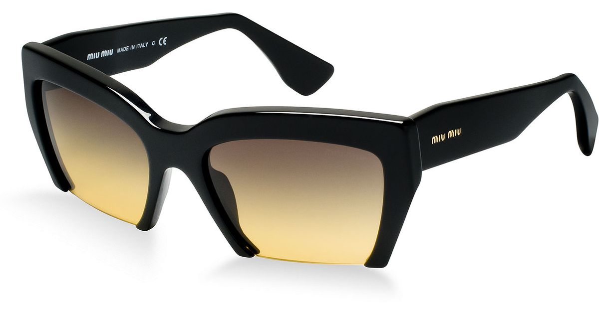 f495e0936853 Lyst - Miu Miu Miu Miu Sunglasses Mu 11os in Black