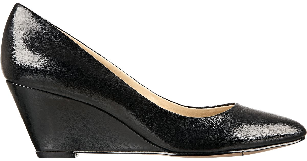 Lyst Nine West Lupetto Wedge Pump In Black