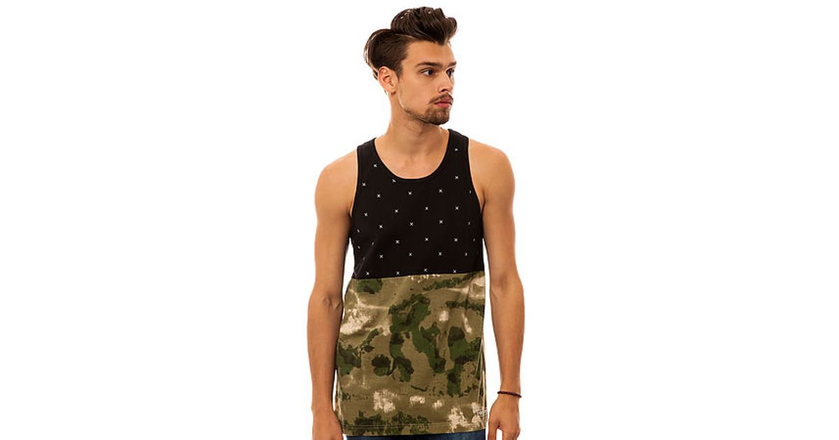 205b258421fd80 Lyst - Crooks and Castles The Thieves Tank Top in Black for Men