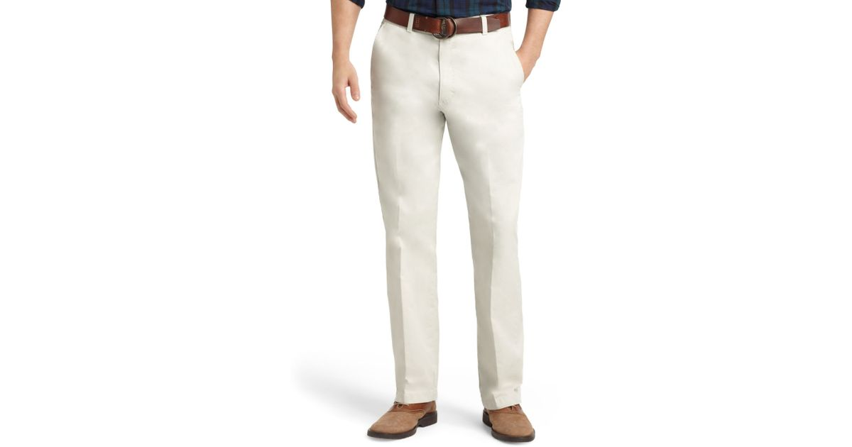 Izod Saltwater Straight Fit Chino Pants in White for Men | Lyst
