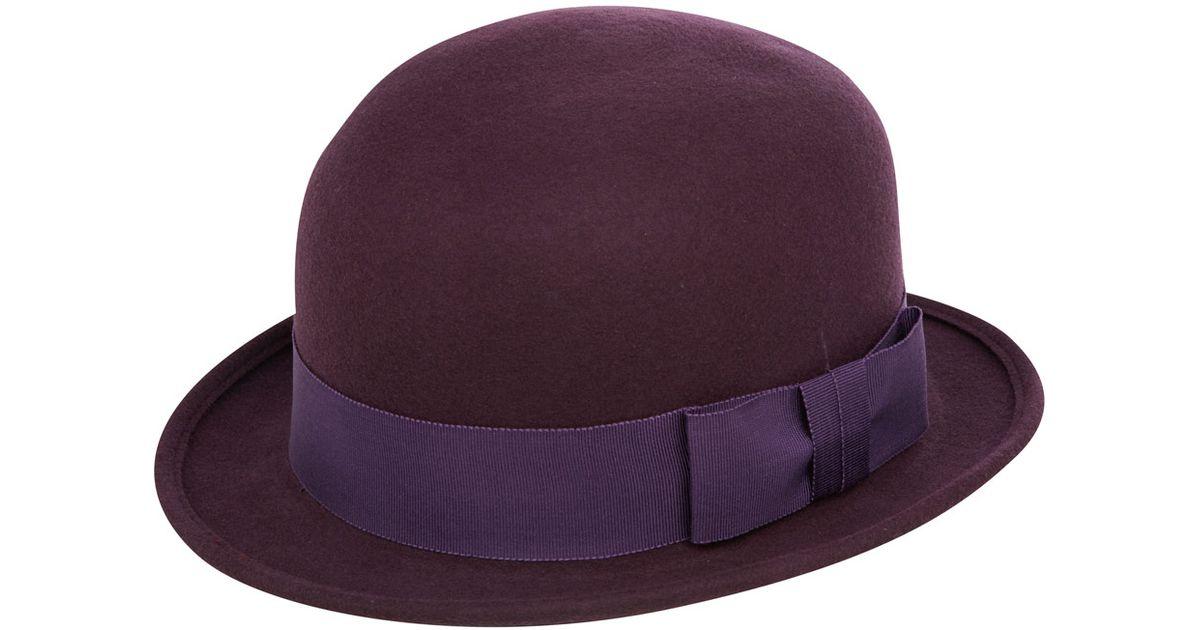 Lyst - Christys  Purple Mabel Trilby Hat in Purple d34c1b201cee