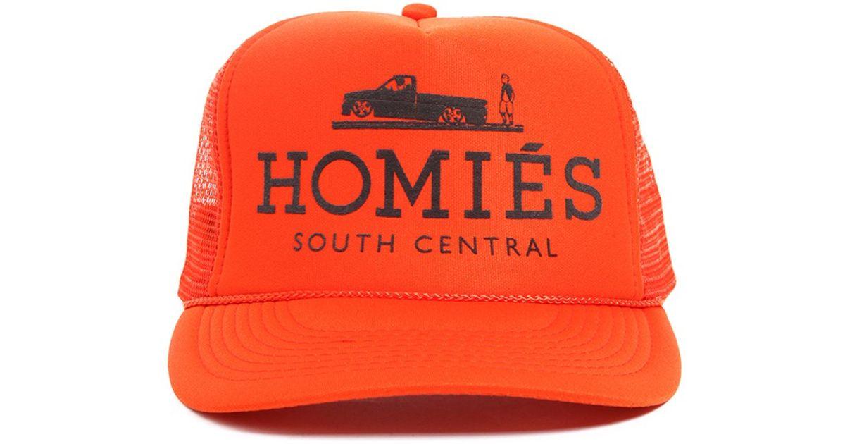 cc0694cc67f ... real lyst brian lichtenberg brian lichtenberg homies trucker hat in  orange in orange c58d0 3ae97