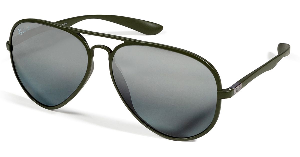 6a82c36f05 ... sweden lyst ray ban matte green liteforce aviator tech polarized  sunglasses in green 65ced 7447a