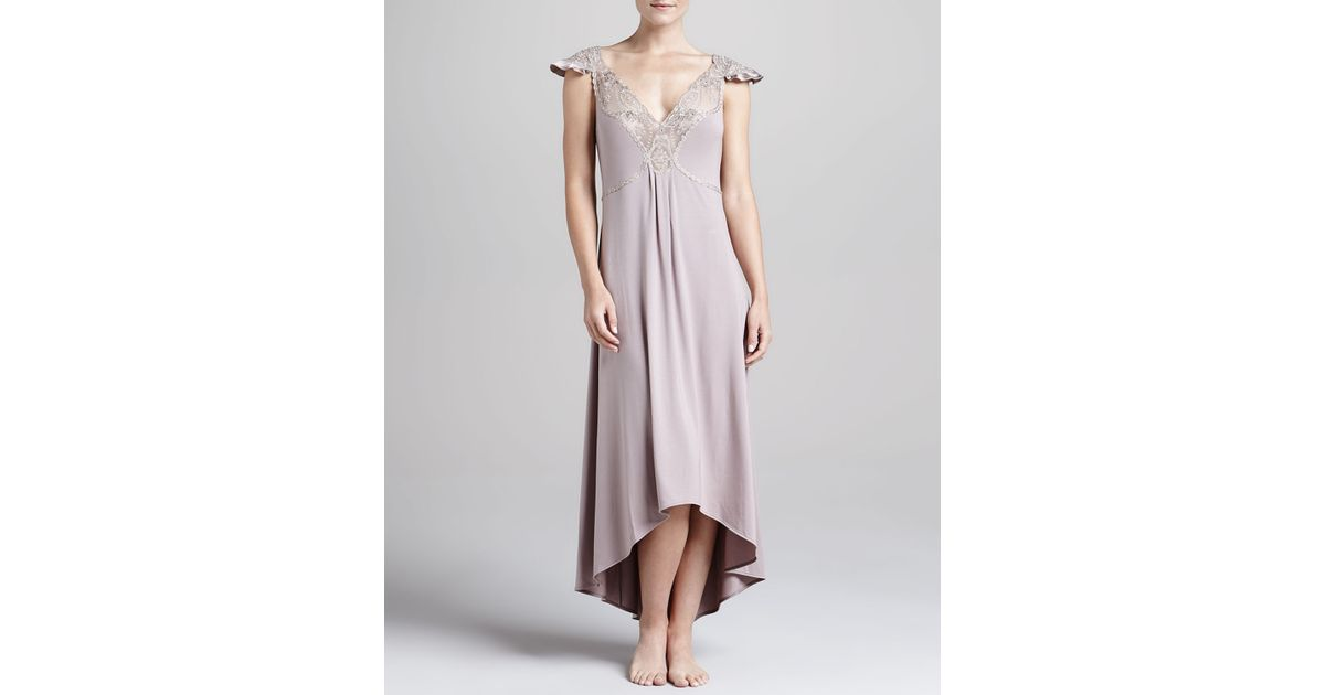 Lyst - La Perla Villa Toscana Hilo Gown in Gray