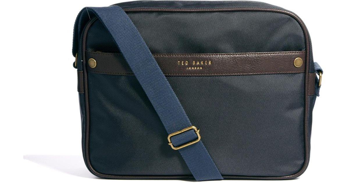 1e1afa89fbef1 Lyst - Ted Baker Nylon Document Bag in Blue for Men