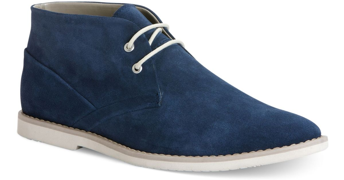 ever popular multiple colors new arrivals Calvin Klein Ference Suede Chukka Boots in Dark Blue (Blue) for ...
