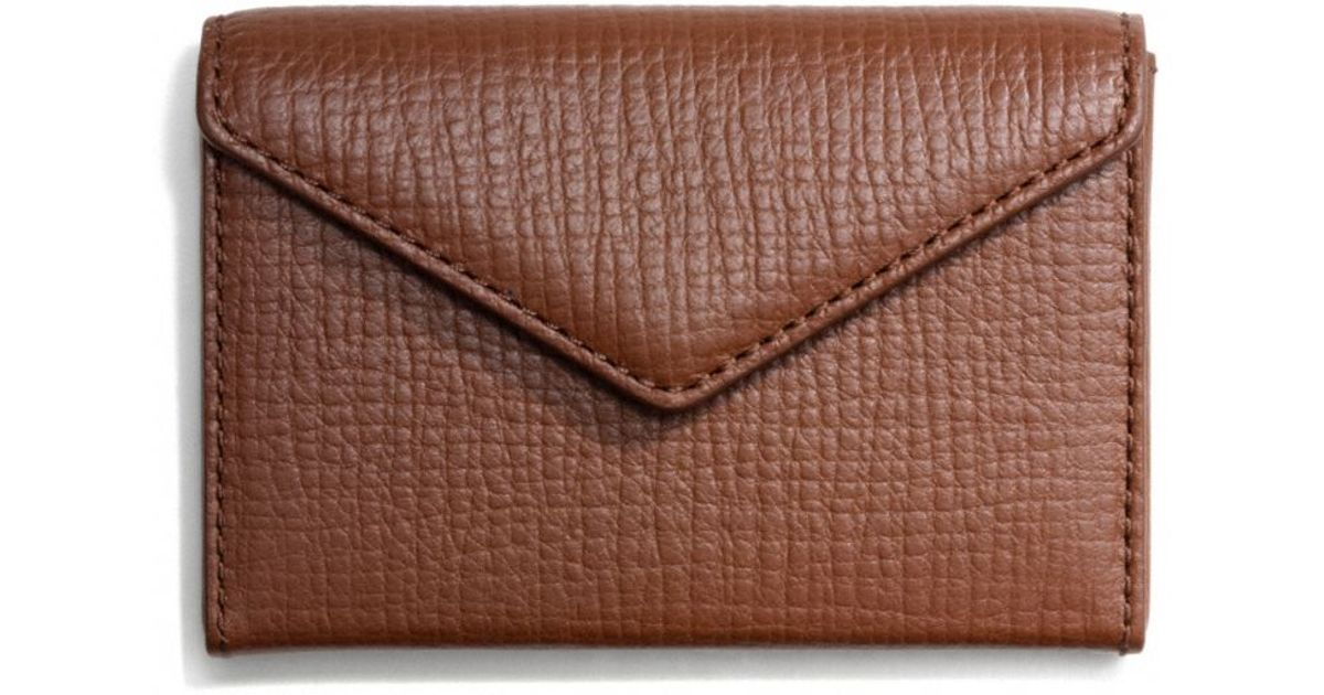 Lyst - Coach Crosby Envelope Business Card Case in Box Grain Leather ...