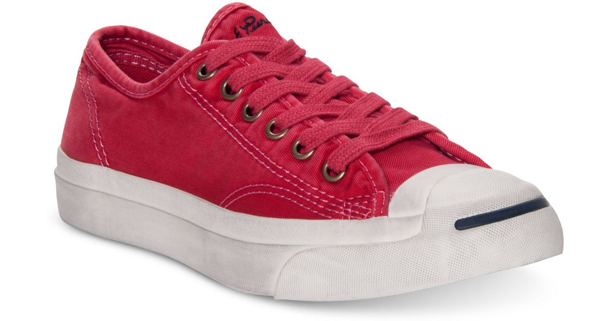 9a8060e7308b54 ... clearance lyst converse jack purcell ltt casual sneakers in red for men  6a652 7f125