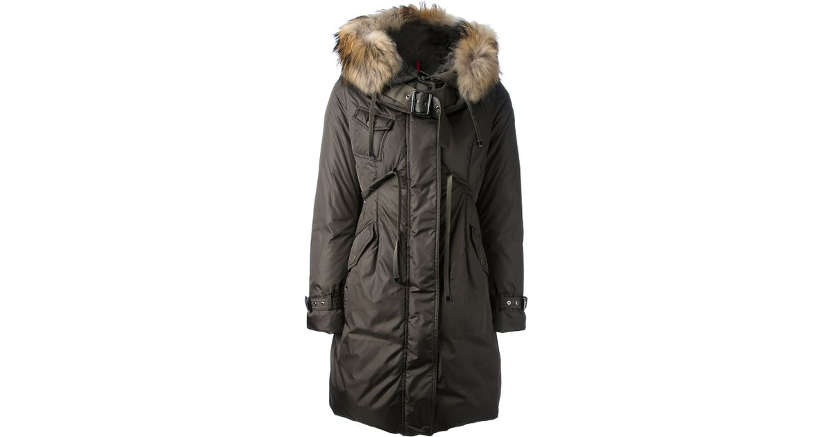 Moncler Phalangere Feather Down Coat in Green | Lyst