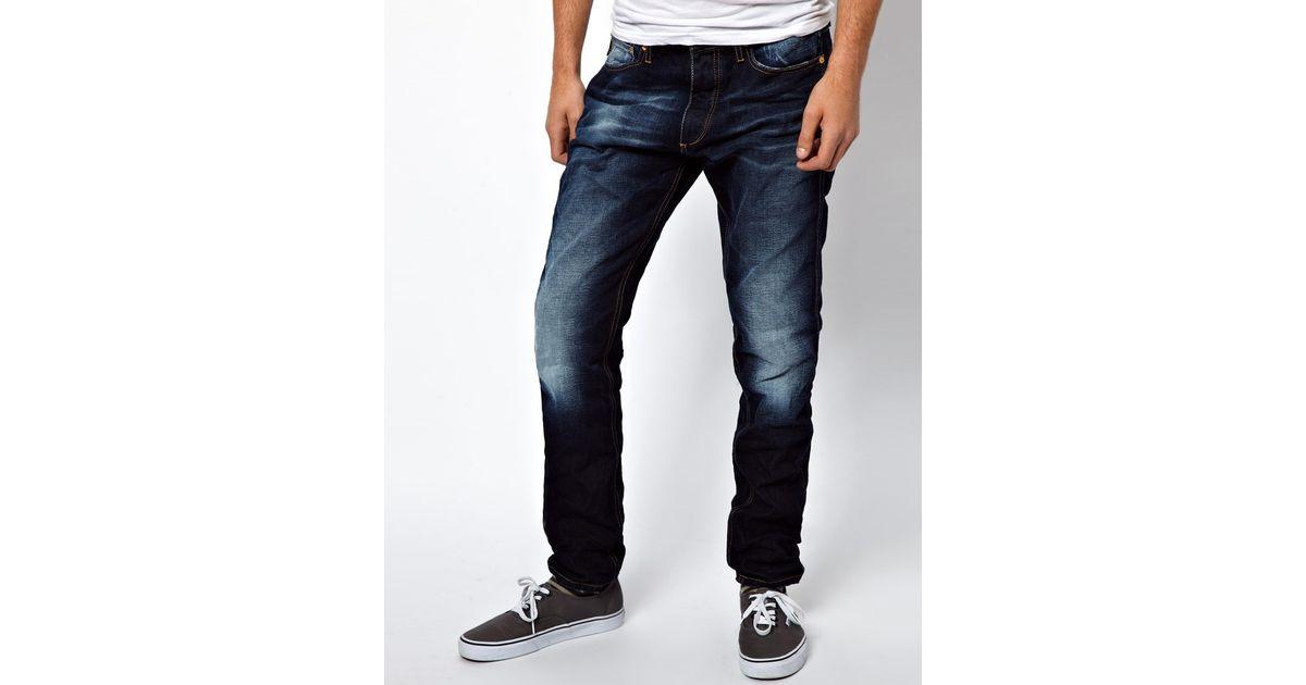 the best cute cheap uk store ASOS Blue Jack Jones Erik Original Anti Fit Jeans
