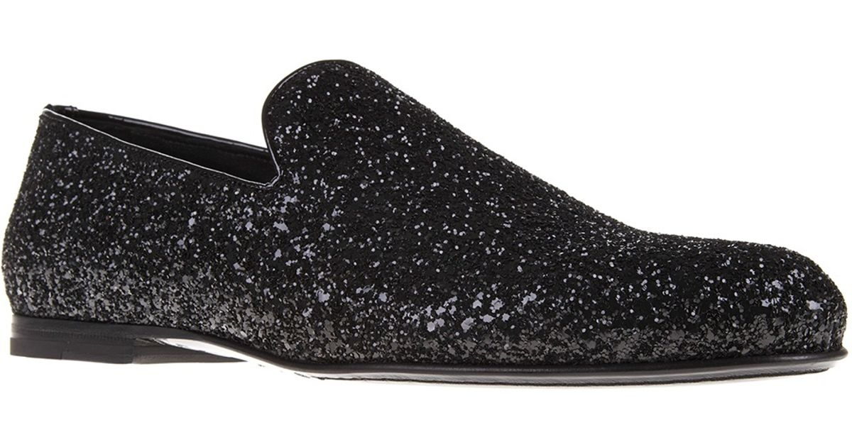Lyst jimmy choo sloane sequin loafer in black for men for Jimmy choo mens shirts
