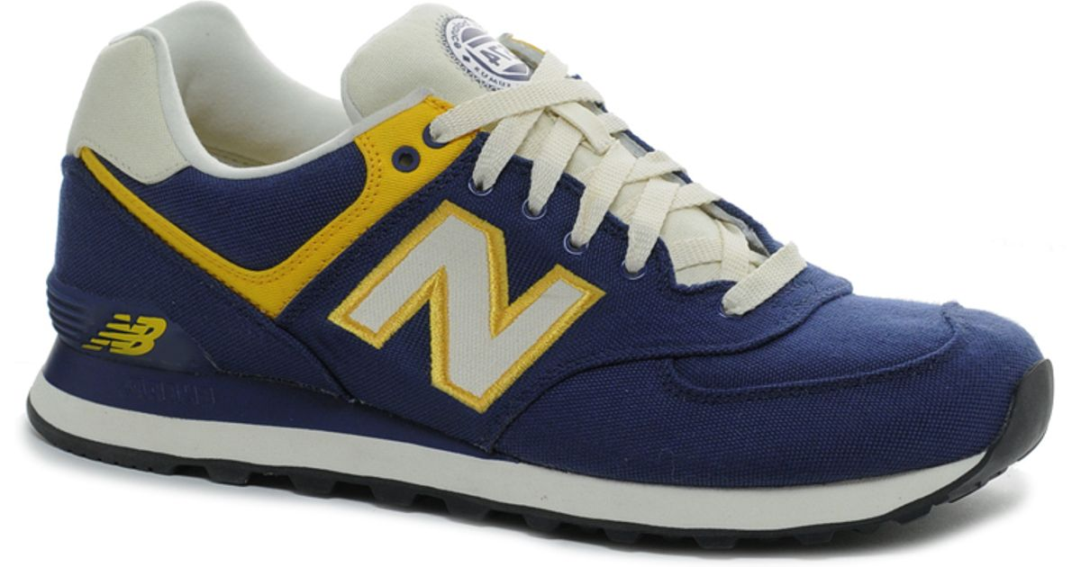 New Balance Blue 574 Rugby Pack Sneakers for men