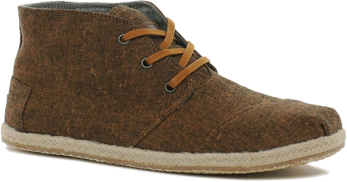 toms toms botas desert boots in brown for lyst