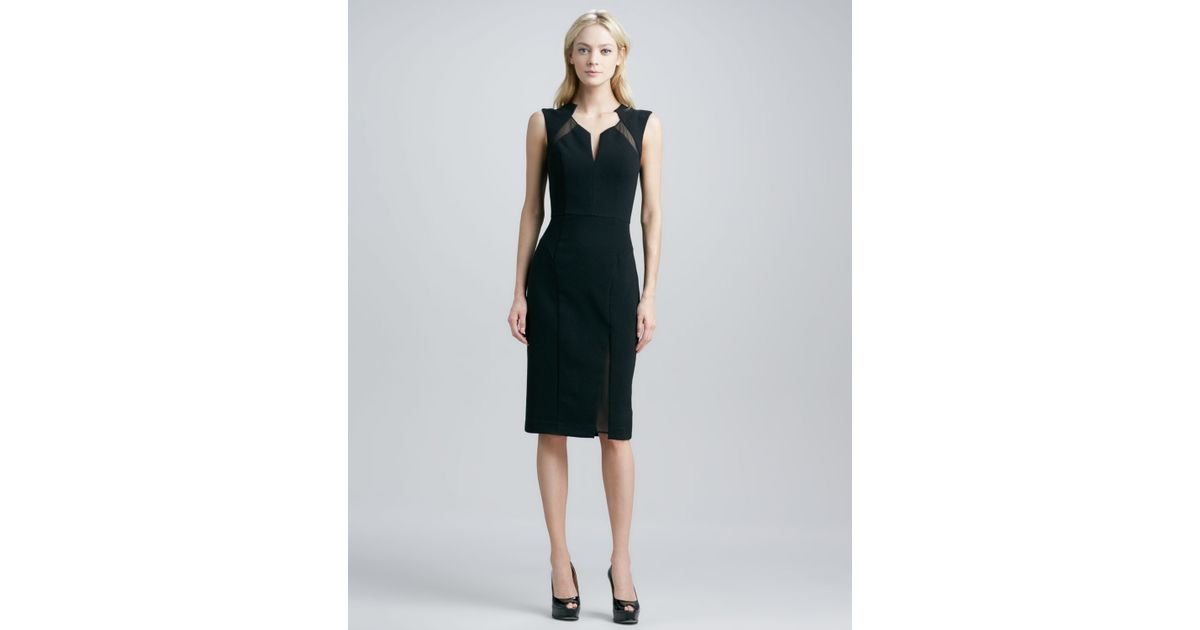 Lyst Black Halo Cicero Sheath Dress With Cutouts In Black