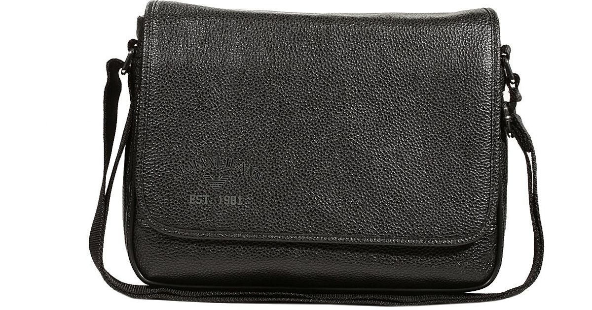 Lyst - Giorgio Armani Multicolor Faux Leather Shoulder Bag with Flap in  Black for Men dacf52d1ab49e