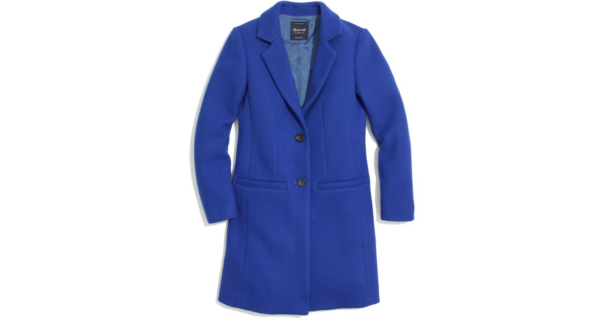 Madewell Car Coat in Blue | Lyst