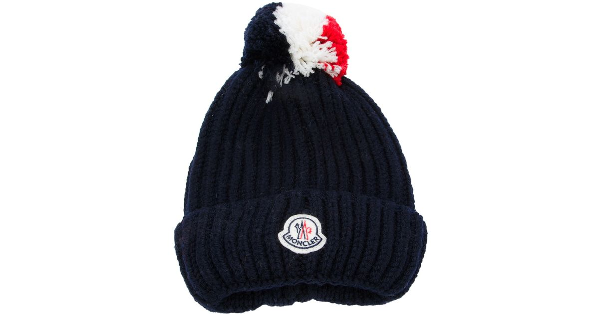 22bc5be33 Moncler Blue Bobble Hat for men