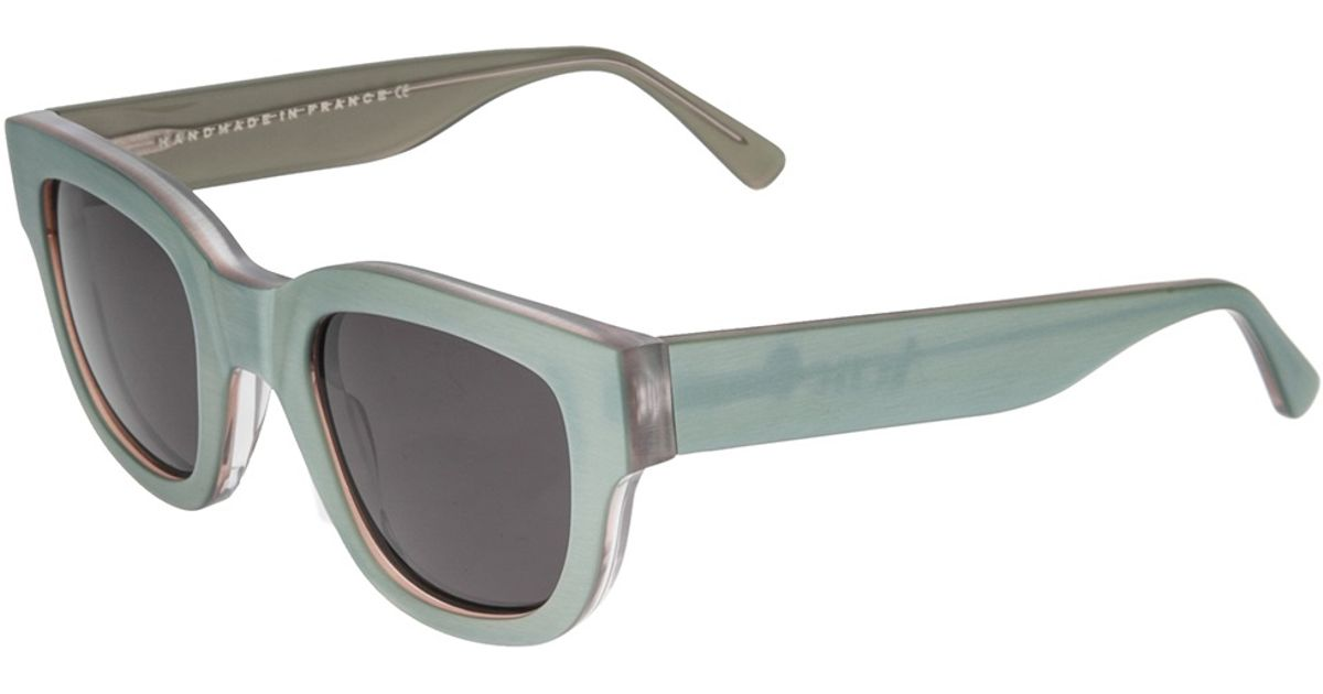 Lyst - Acne Studios Acne Thick Frame Sunglasses in Green