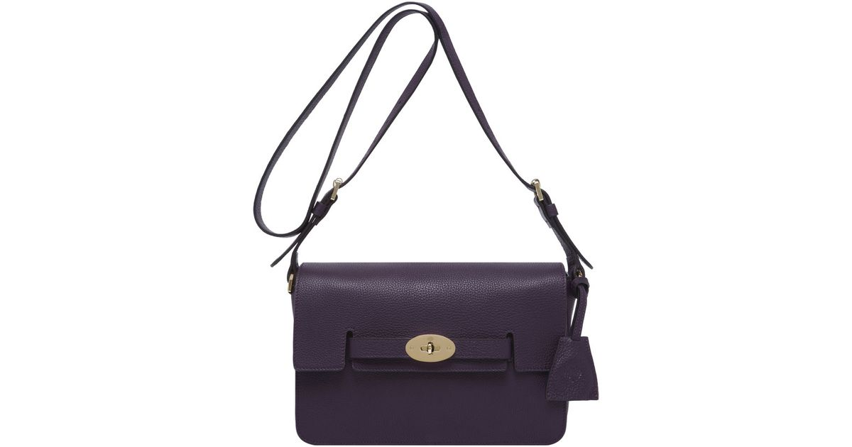 ... official store lyst mulberry bayswater shoulder in purple 7975f d3b44 4702406103ae8