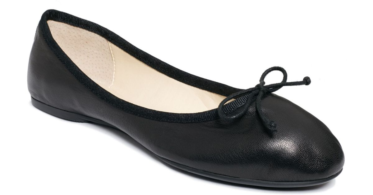 New Womens Lauren By Ralph Lauren Black Reanna Leather Shoes Flats Elasticated